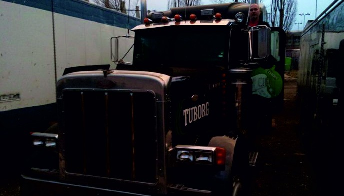 Брандиране на камион за Tuborg